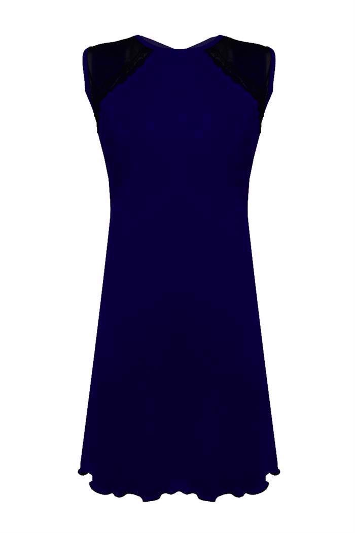 Ærmeløs kjole m. oval ryg åbning