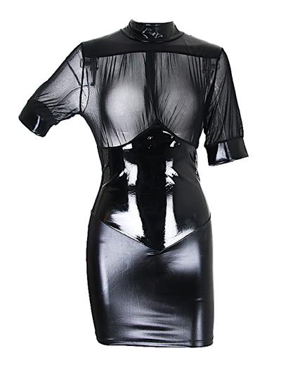 Lak læder kjole