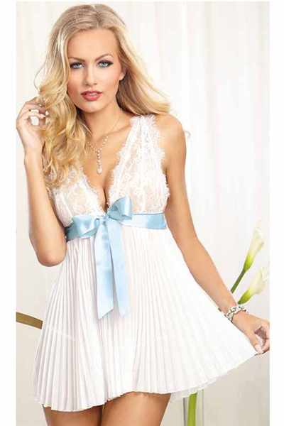 Image of   Bryllups lingeri kjole, Hvid