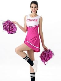 Pink cheerleader Kostume