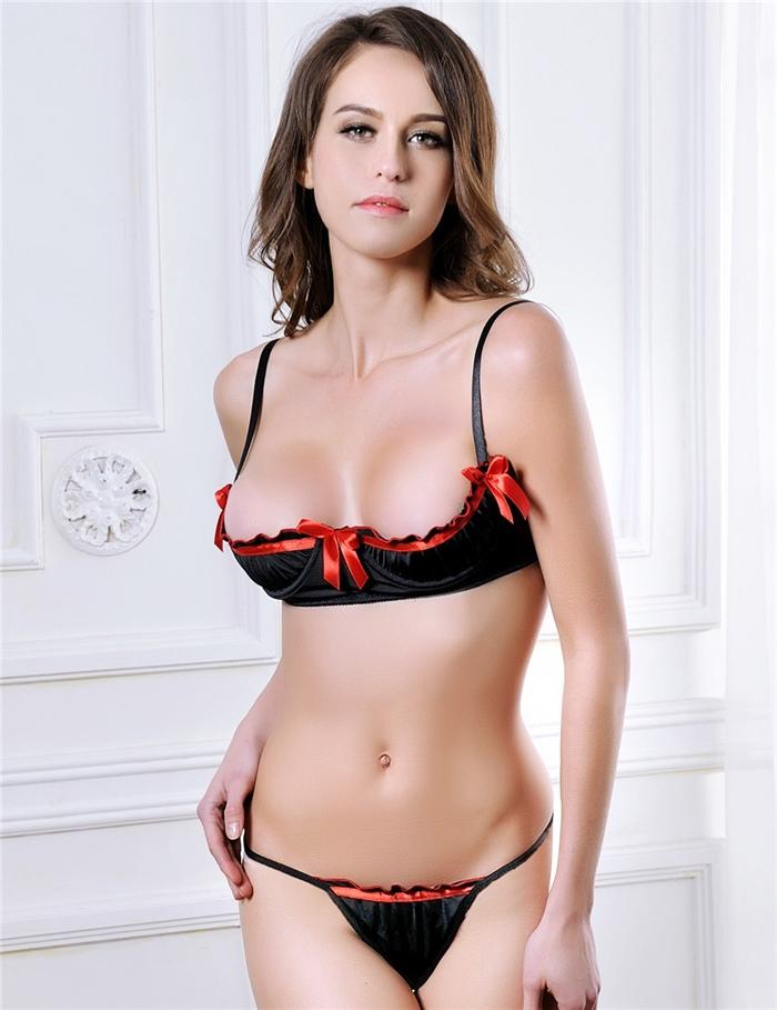 Image of   Sexy halv skål mini sæt, Sort