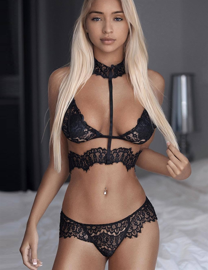 Image of   Blonde Seductive bralette sæt