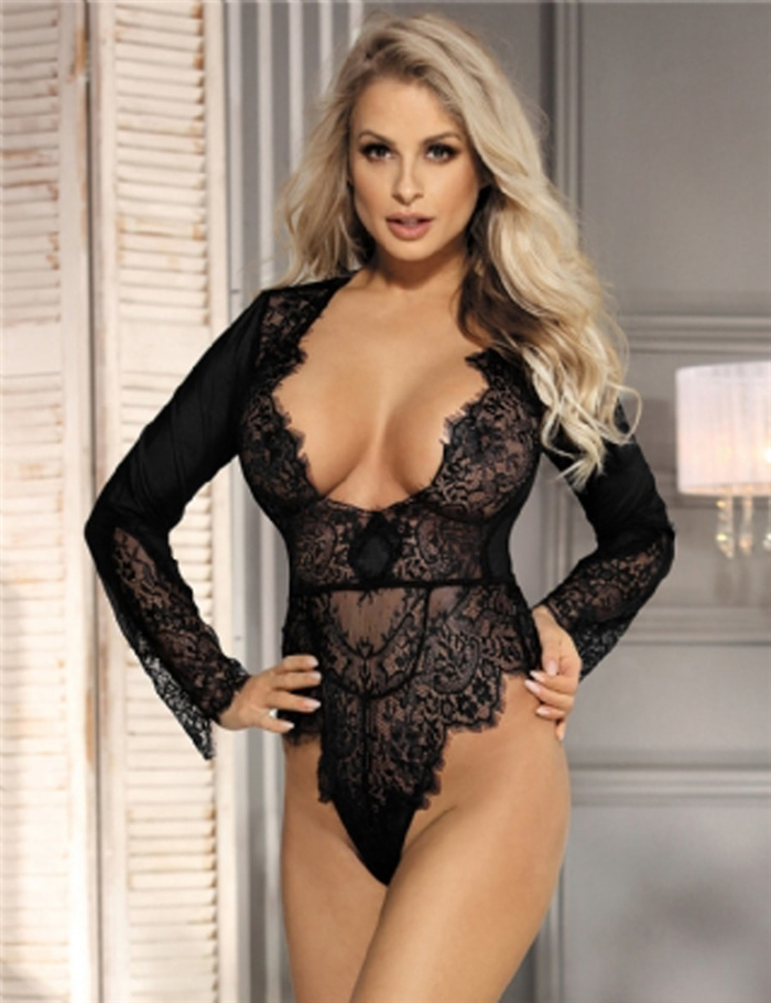 Image of   Body Exquisite Lace, Sort