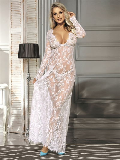 Image of   Hvid lace neglige