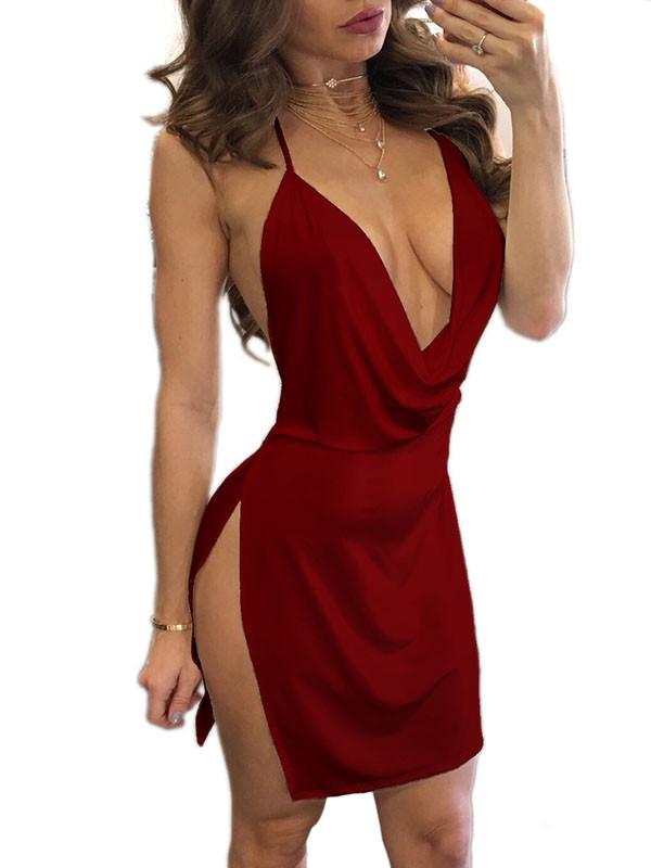 Party kjole, Vin rød