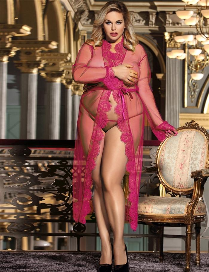 Lang blonder Kimono