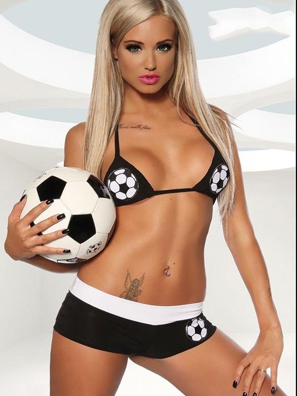 Image of   Mega Fodbold fan kostume