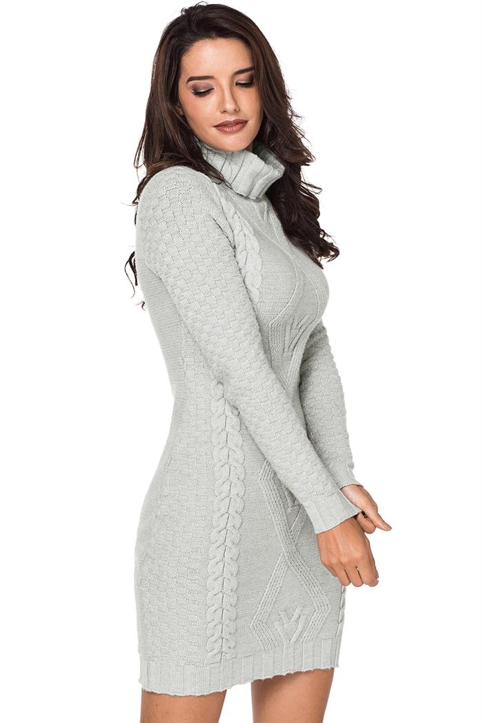 Billede af Grå lang turtleneck sweater
