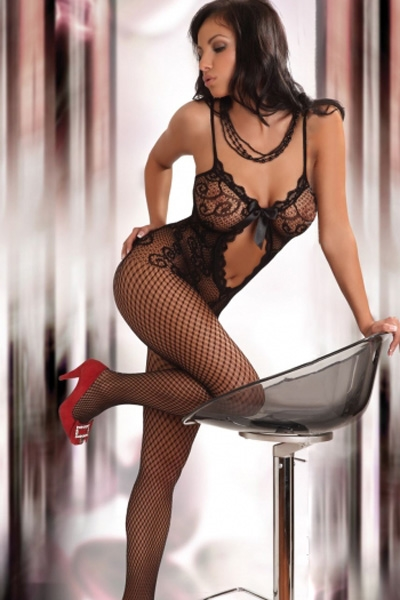 Image of   Sofistikeret catsuit - sort