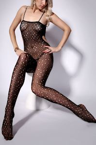 Hullet catsuit bodystocking i mesh