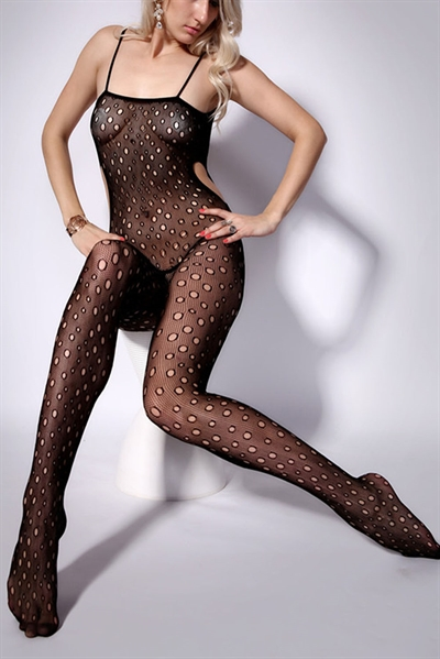 Image of   Dotty hollow catsuit