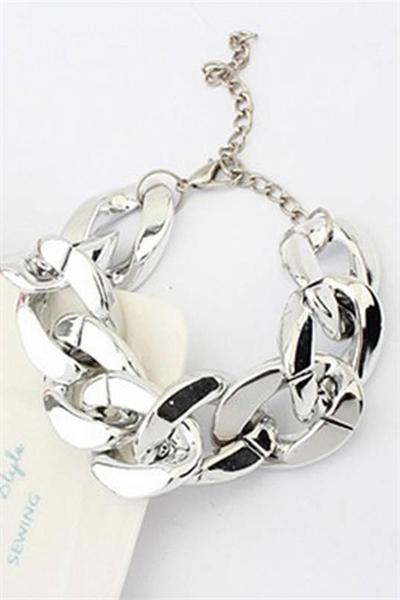 Billede af Cherries.dk, Silver Chorme Bracelet