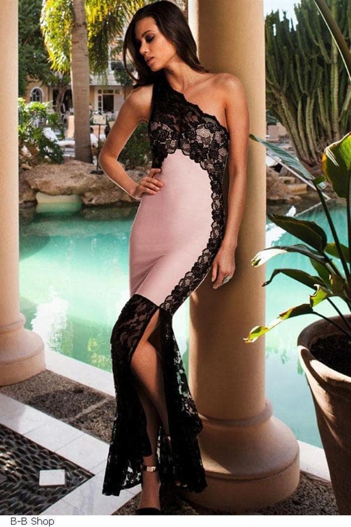 Sort lace kjole