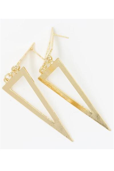 Guld Triangel øreringe
