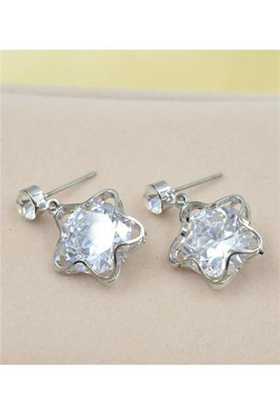 Sølv Star øreringe