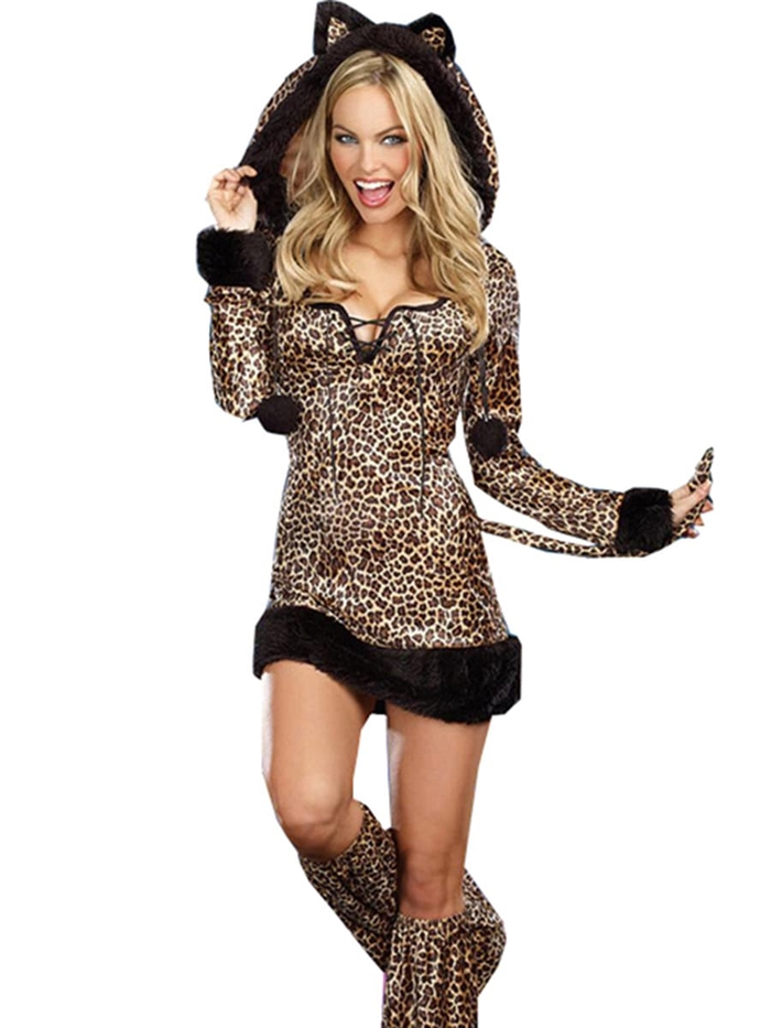 Image of   Fræk Leopard kostume