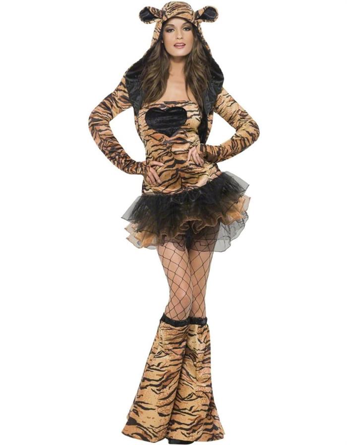Image of   Fræk Tiger kostume