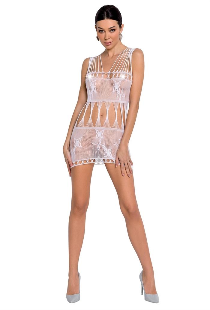 Hvid mesh new fashion chemise